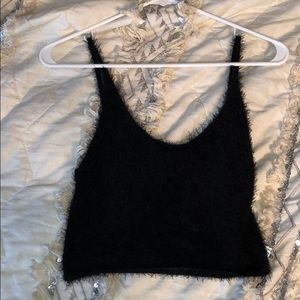 Forever 21 black cropped top